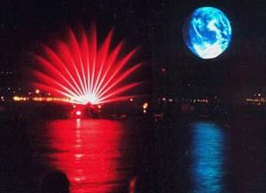 lac de lausane,firework show